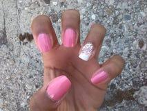 Flower nail art Stock Images