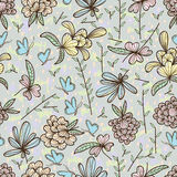 Flower natural pastel color seamless pattern Stock Photography