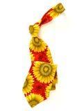 Flower Necktie. Over white background Stock Photography