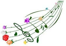 Flower note. Vector - music various flower note Royalty Free Stock Photo