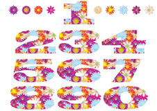 Flower numbers stock illustration