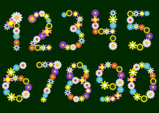 Flower numbers Royalty Free Stock Images