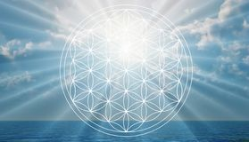 Free Flower Of Life Symbol In The Sky, Portal, Life Stock Photo - 160465260