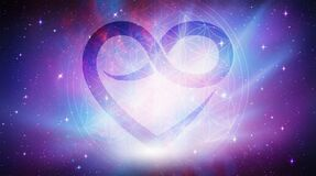 Free Flower Of Life Symbol, Infinity Heart, Portal, Life Soul Journey Through Abstract Universe Doorway Stock Photos - 176435833