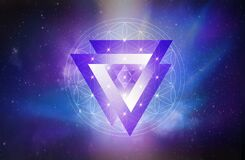 Free Flower Of Life Symbol, Portal, Life Soul Journey Through Abstract Universe Doorway Royalty Free Stock Images - 175259409