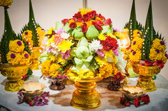 Flower offerings for Buddha Stock Images