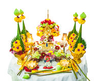 Flower offerings for Buddha Royalty Free Stock Photography