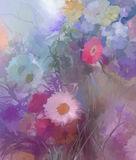 Flower oil painting.Flora Vintage  color background Royalty Free Stock Photos