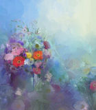 Flower oil painting.Flora Vintage  color background Royalty Free Stock Photography