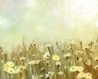 Flower oil painting - vintage Royalty Free Stock Images