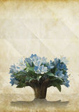 Flower on old grunge paper Royalty Free Stock Images