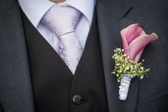 Flower On The Lapel Stock Photography