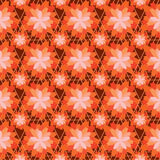 Flower orange color symmetry seamless pattern. This illustration is drawing flower with orange color symmetry in seamless pattern Stock Image
