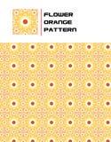 Flower Orange Pattern. A Seamless Orange Flower Pattern Stock Photos