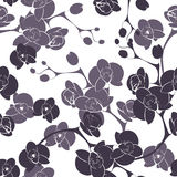 Flower orchid decoration design seamless texture pattern Stock Image