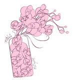 Flower orchid decoration perfume flask design Stock Photo