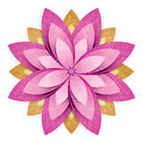 Flower origami recycled paper craft Stock Photo