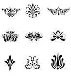 Flower ornament. Vectorial set of flower ornaments, isolated objects Royalty Free Stock Photo