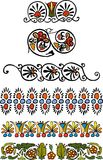 Flower ornament. Set vegetative element of design. Flower ornament Royalty Free Stock Photos