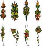 Flower ornament. Set vegetative element of design. Flower ornament Royalty Free Stock Photo