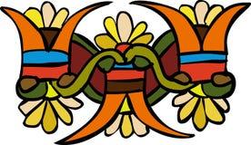 Flower ornament. Vegetative element of design. Flower ornament Stock Image