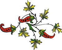 Flower ornament. Vegetative element of design. Flower ornament Stock Images