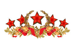 Flower ornament. Vector decorative background of a board with stars Stock Photos