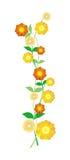 Flower ornament. Flower blossoms on white background Stock Image