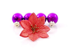 Flower with Ornament Balls Stock Image