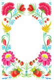 Flower ornament. Design of a celebratory card Stock Image