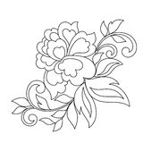 Flower ornament, hand drawn Royalty Free Stock Image