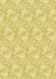Flower ornament pattern. On gold colored background. EPS 8.0. RGB Stock Photos