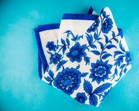 Flower ornament towel Stock Photography