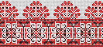 Flower ornament in the Ukrainian style. On a white background Vector Illustration