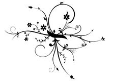 Flower ornament vector design Royalty Free Stock Photography