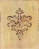 The flower ornament wood carving detail in Victorian style. Royalty Free Stock Photos