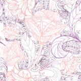 Flower ornamental wallpaper Royalty Free Stock Photos