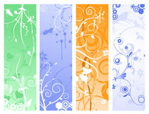 Flower ornaments Stock Images