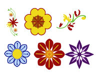 Flowers Ornaments Stock Photography