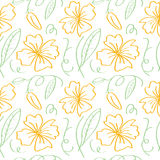 Flower outline pattern Stock Photos