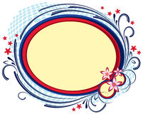 Flower oval frame Royalty Free Stock Photo