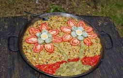 Flower paella Royalty Free Stock Photo