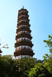 Flower Pagoda of temple of Six Banyan Trees Stock Image