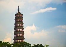 Flower Pagoda of temple of Six Banyan Trees Stock Photo