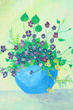 Flower painting on canvas Royalty Free Stock Images