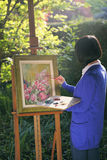 Flower painting in the garden Stock Photos