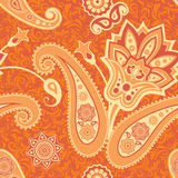 Flower and paisley seamless pattern Stock Photography