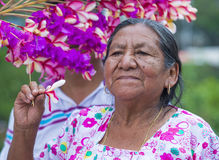 Flower & Palm Festival in Panchimalco, El Salvador Royalty Free Stock Image