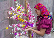 Flower & Palm Festival in Panchimalco, El Salvador Royalty Free Stock Photos