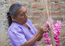 Flower & Palm Festival in Panchimalco, El Salvador Stock Image